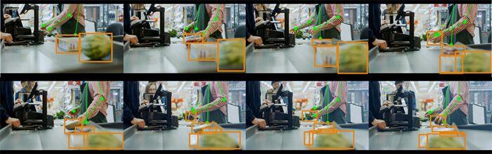 Пример роботизированного отслеживания предметов при записи видео