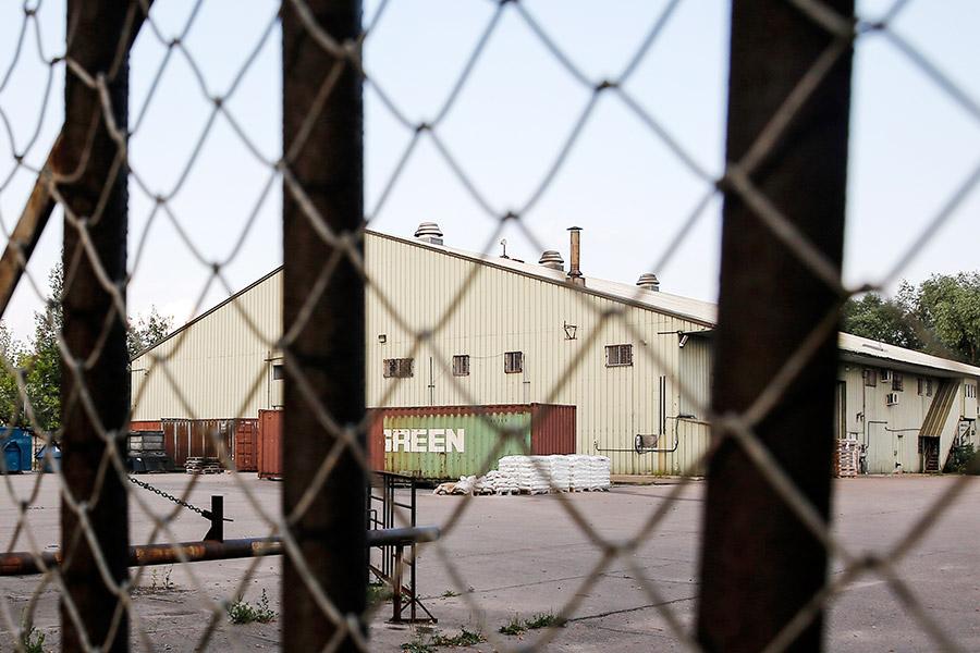 Вид на складские помещения на Дорожной улице