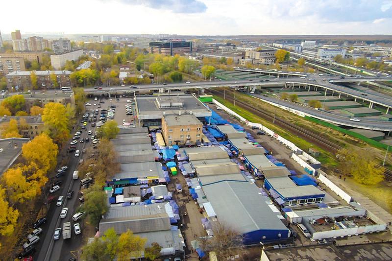 Вид наКунцевский рынок в Москве