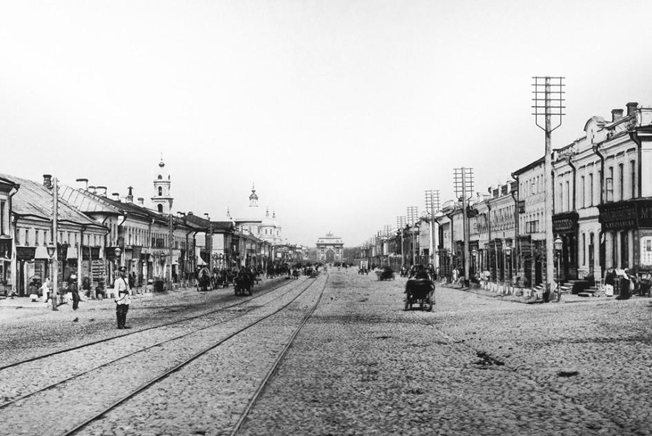 Вид на Тверскую-Ямскую улицу, 1903 год
