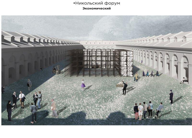 Концепция развития территории «Никольские ряды», подготовленная командой «АРХАТАКИ»