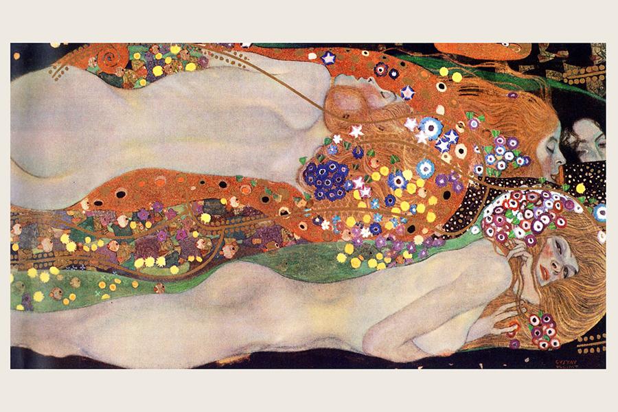 КартинаГустава Климта «Водяные змеи II»