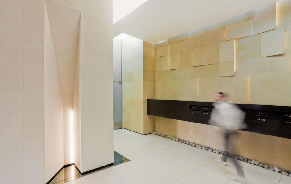 Из портфолио архитектурного бюро IQ: проектный вид входных групп ЖК «Доминион»
