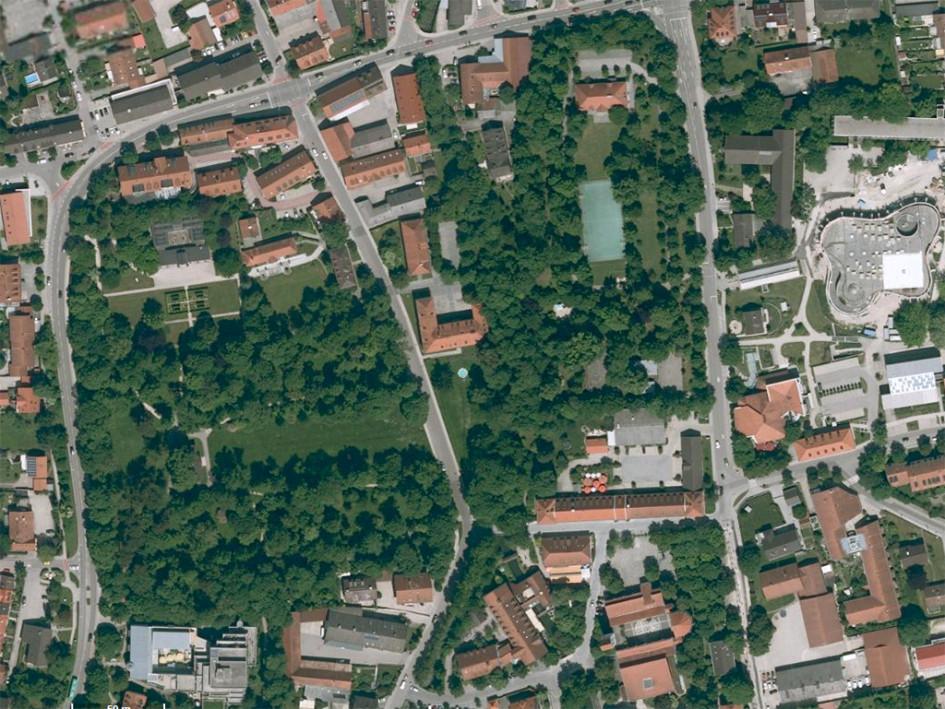 Вид пригорода Исманинг под Мюнхеном