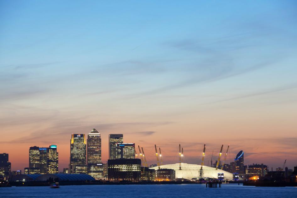 Вид наO2 Arena в Лондоне