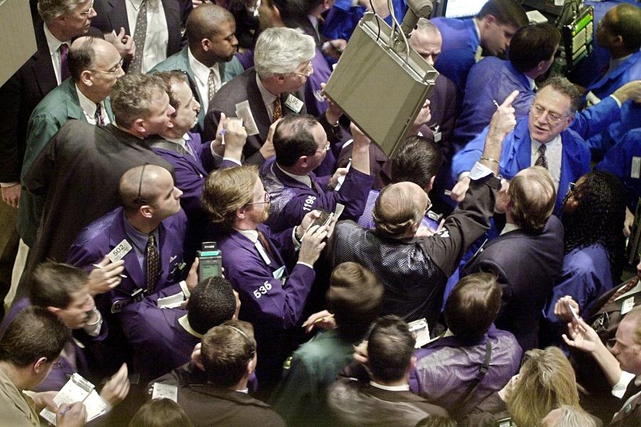 Трейдеры на NYSE, 21 ноября 2000 года