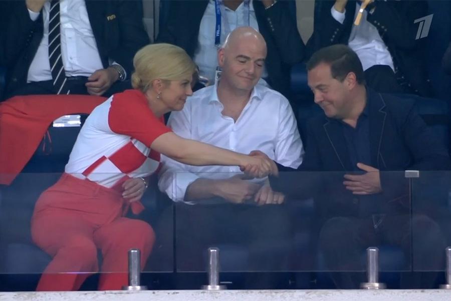 Колинда Грабар-Китарович,Джанни Инфантини и ДмитрийМедведев (слева направо)