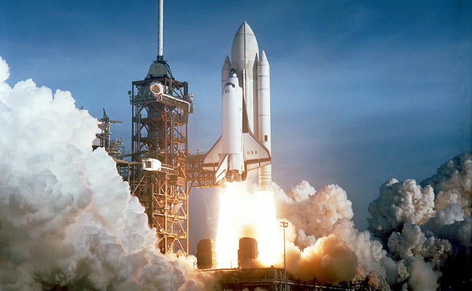 Первый запуск космического шаттла «Колумбия» в начале восьмидесятых
