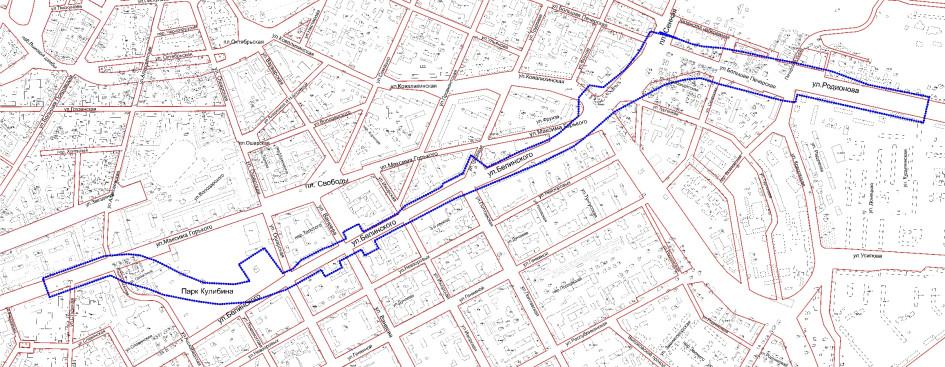 Схема границ подготовки документации по планировке территории перспективного строительства метро