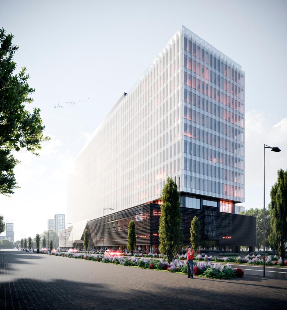 Проект головного офиса «Мосинжпроект» в Мнёвниковской пойме (визуализация)