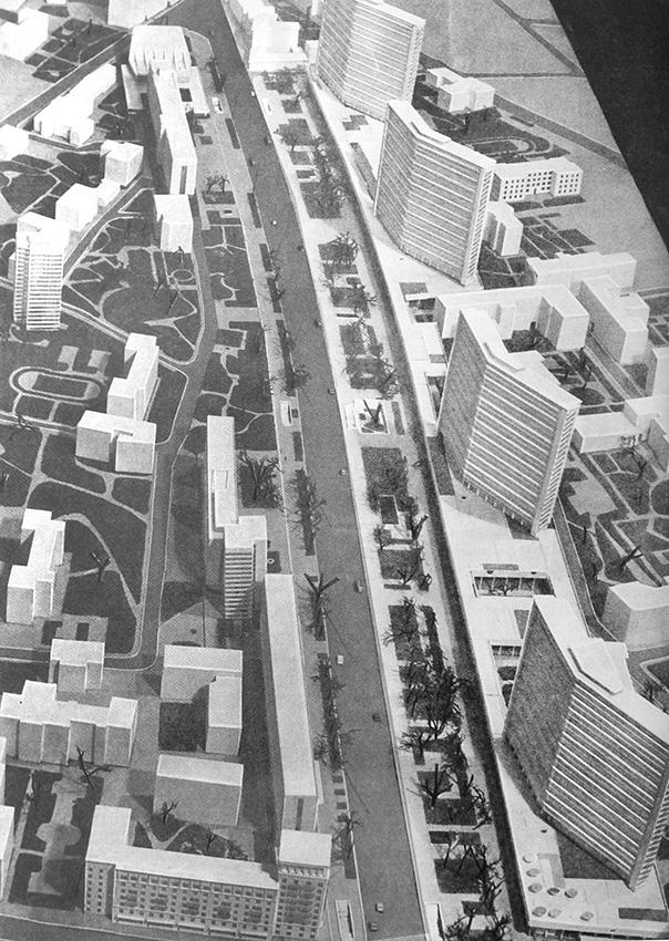 Проект проспекта Калинина. 1962 год