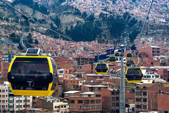 Канатное метро в Боливии