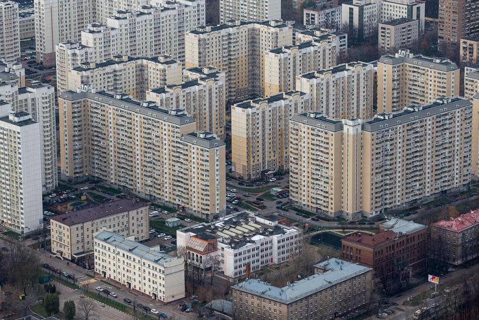 Вид на жилые дома района Марфино