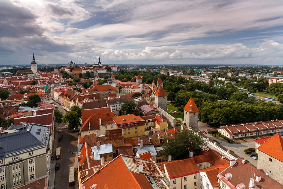 Вид на центр Таллина