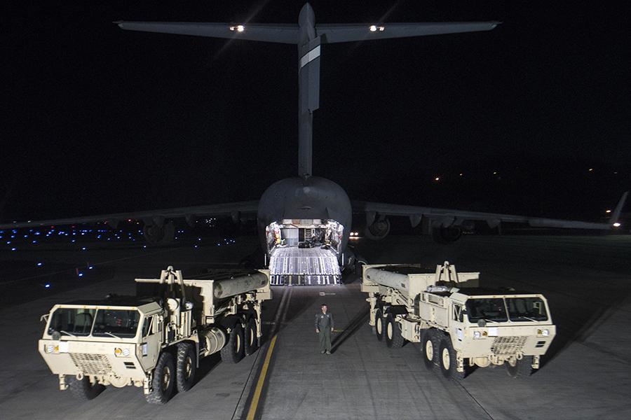 Доставка противоракетного комплекса THAAD