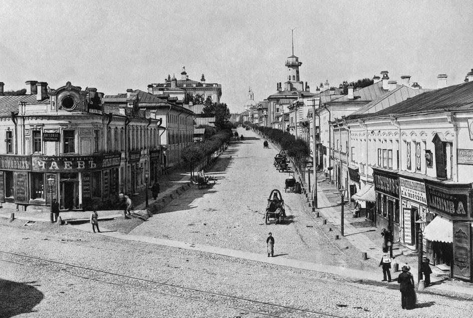 Старая Москва. Новая Басманная улица (от Разгуляя). 1888 год