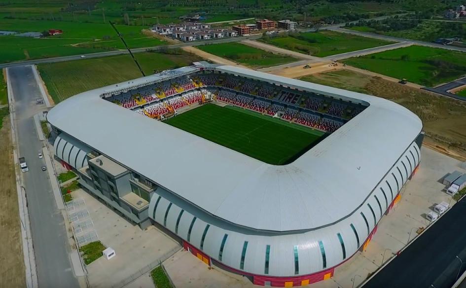 Yeni Tire Stadyumu (Тир, Турция). Вместимость 13 500 зрителей, сроки строительства — 4 августа 2015г. — 25 марта 2018г., стоимость строительства — $12,3 млн.