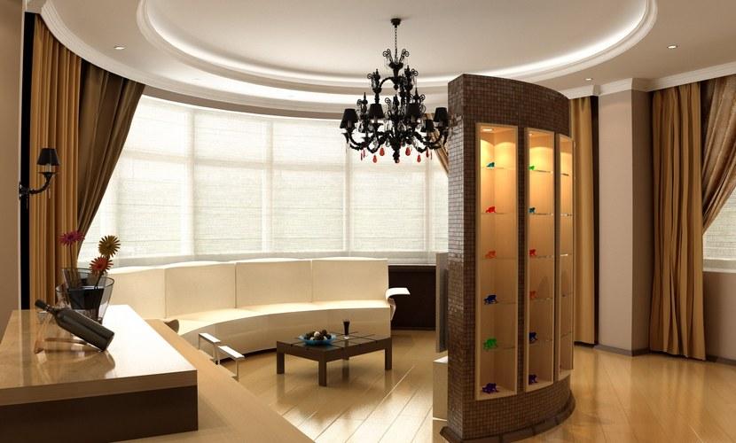Совмещенная гостиная-кухня площадью 42,5 кв. м стала центральным помещением двухкомнатной квартиры площадью 110 кв. м в Никольском тупике. Вдоль круглой стены здесь стоит четырехметровый диван