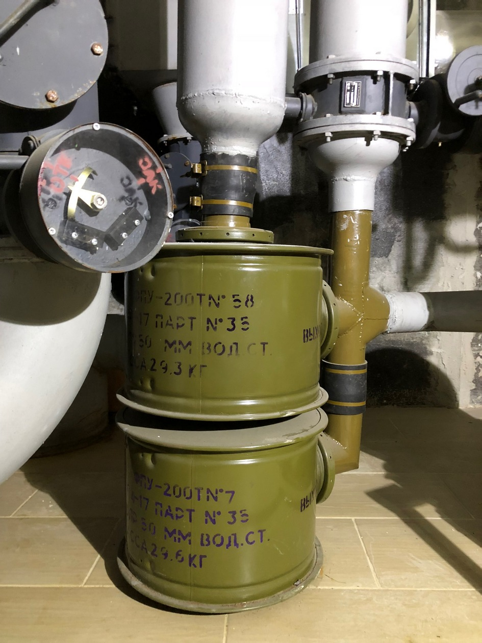 Система очистки воздуха в panic room