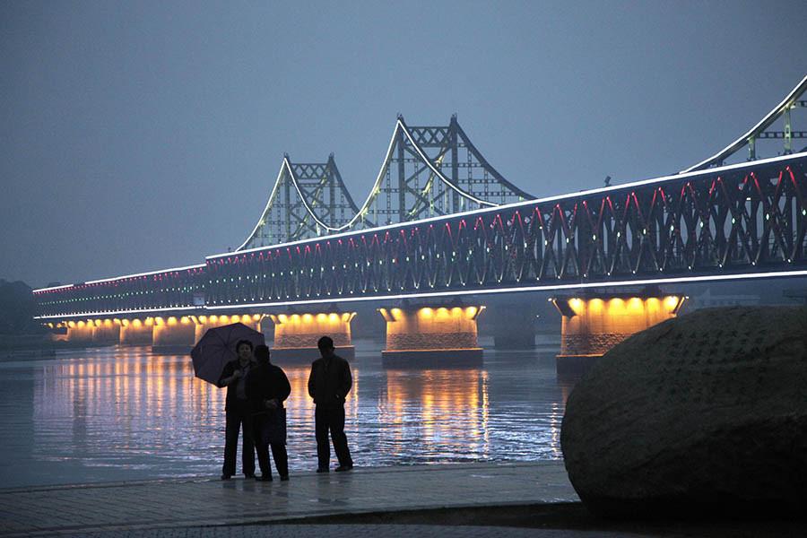Моста Дружбы через реку Ялуцзян