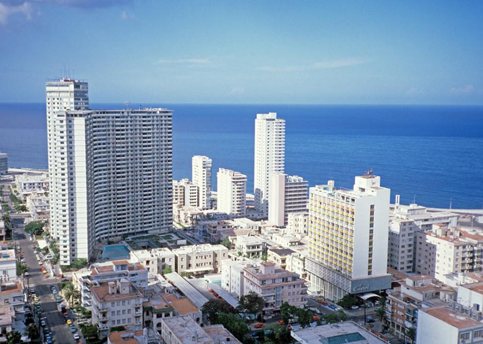 Вид на центральный район Гаваны Ведадо и FOCSA Building