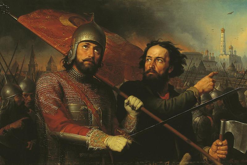 Картина Михаила Скотти «Минин и Пожарский», 1850