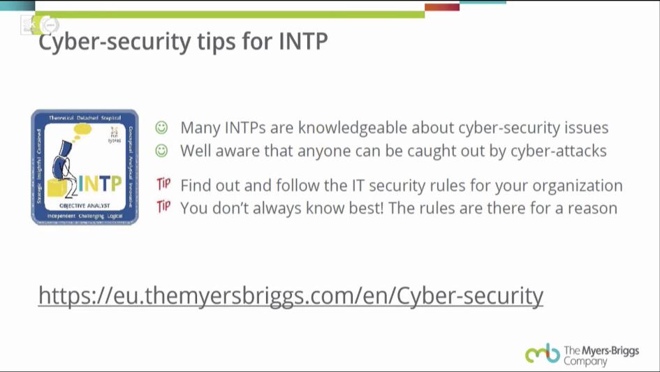 Пример инструкции по кибербезопасности для типа INTP