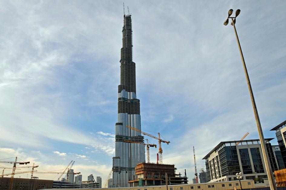 Строительство «Бурдж Халифа» в Дубае