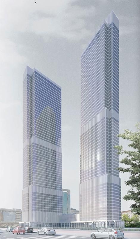 Станет: комплекс Renaissance Moscow Towers (287 м) по проекту SPEECH