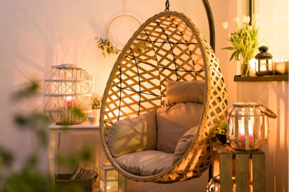 Подвесное кресло создаст уют