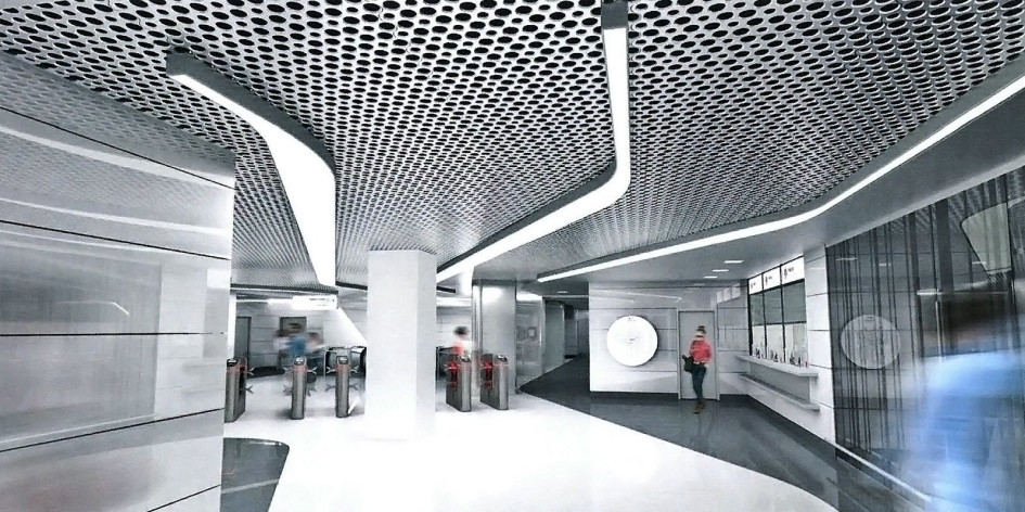 Проект станции «Авиамоторная»БКЛ