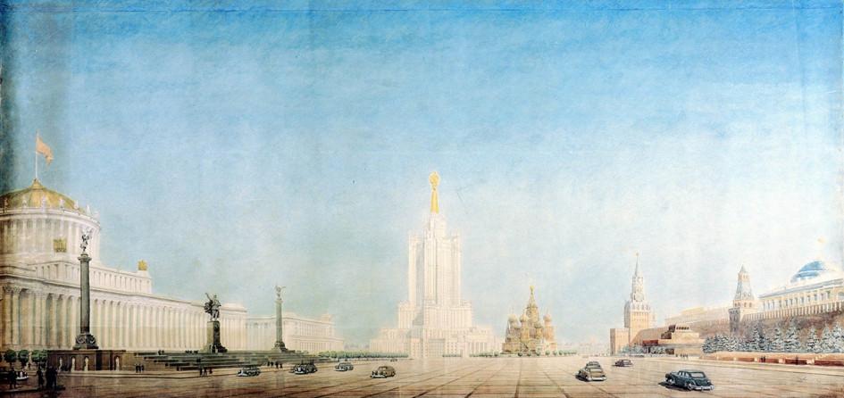Панорама Красной площади с высоткой в Зарядье