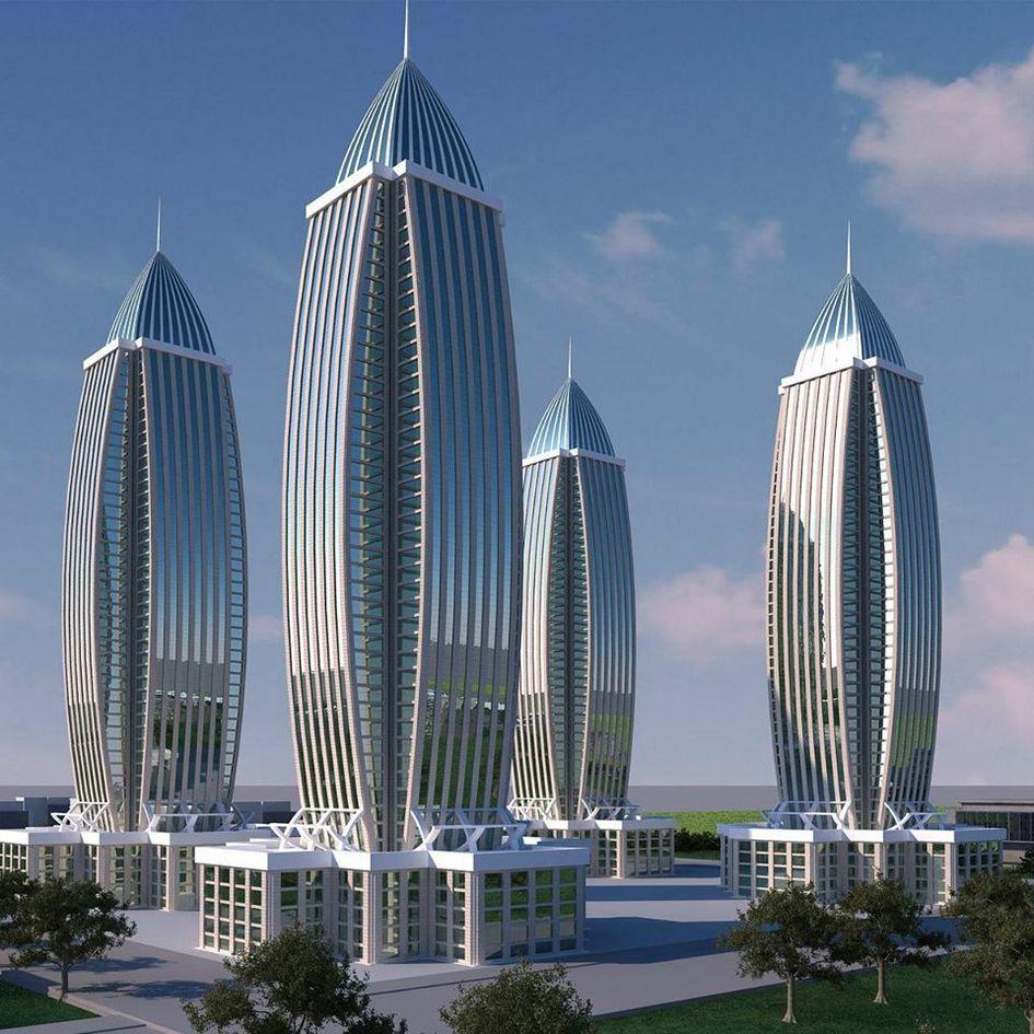Проект высотного жилого и офисного комплекса
