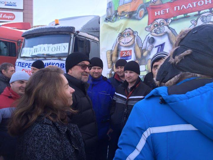 Лидер группы «ДДТ» Юрий Шевчук влагере дальнобойщиков вХимках