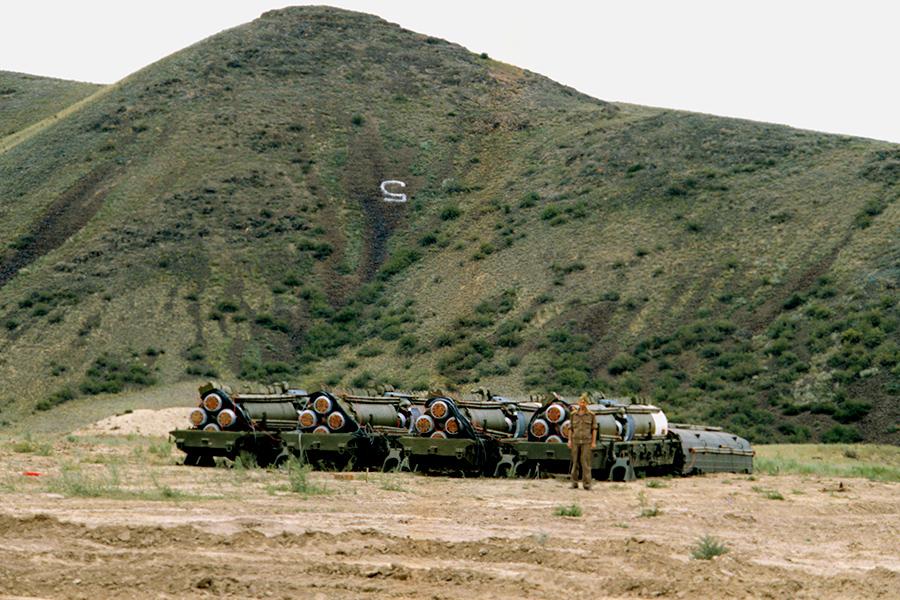 Подготовка к ликвидации ракет меньшей дальности на полигоне Сарыозек, 1988 год