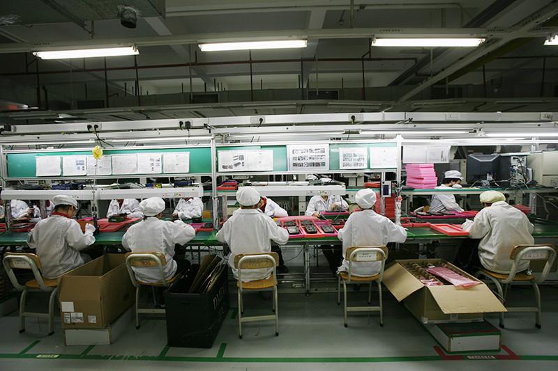 Рабочие на заводе Foxconn, 2010 год