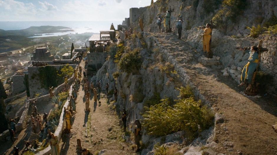 Подъем в крепость Клис