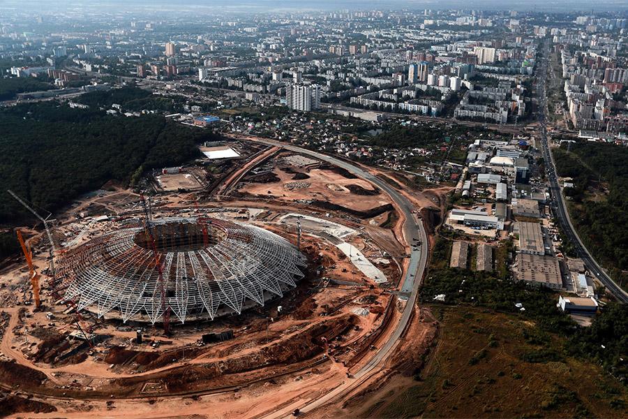 Строительство стадиона «Самара Арена»