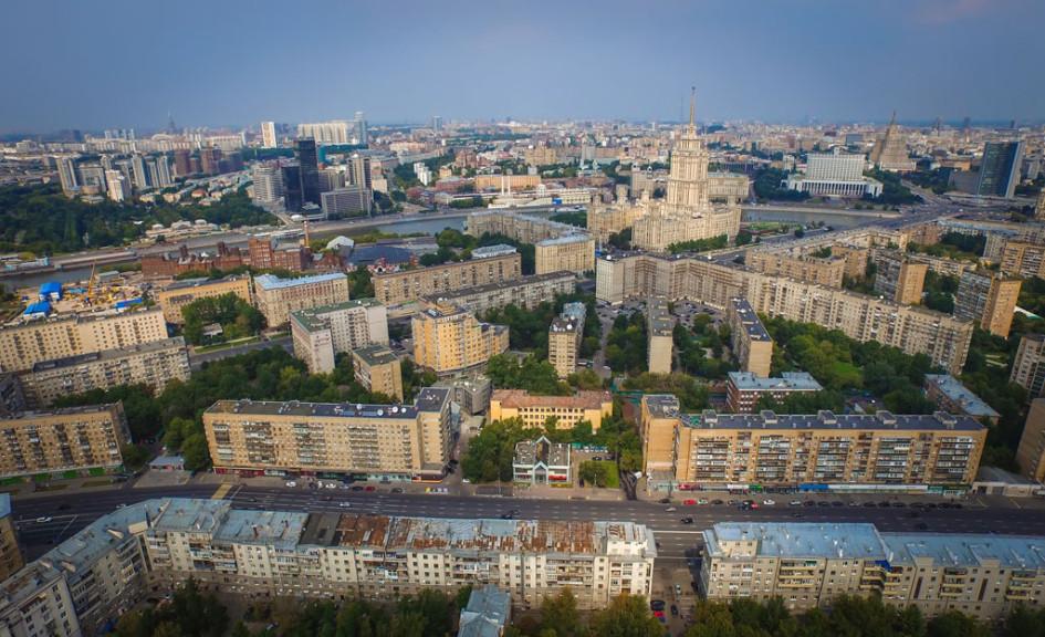Вид наДорогомиловский район игостиницу «Украина»