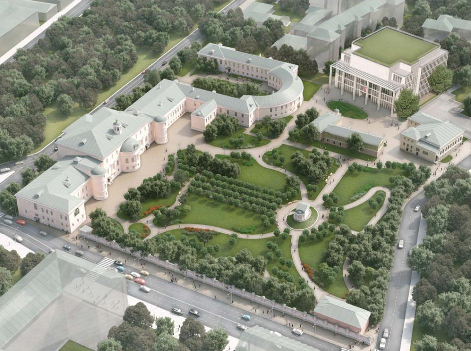 Территория Екатерининской больницы