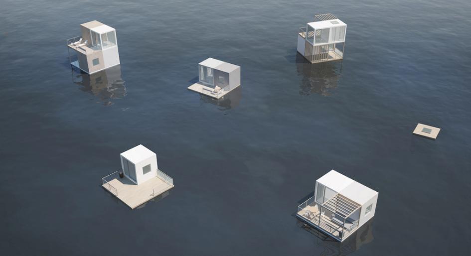 Визуализация жилых плавучих модулей. Проект «Адаптивный интегрированный модуль» команды Сергея Падалко