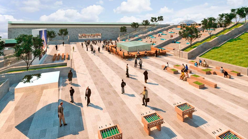 Визуализация проекта нового городского пространства в «Москва-Сити»