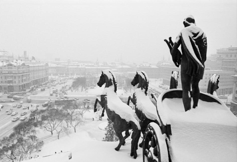 Вид на площадь Свердлова и гостиницу «Метрополь» из здания Большого театра Союза ССР.10 января 1978 года
