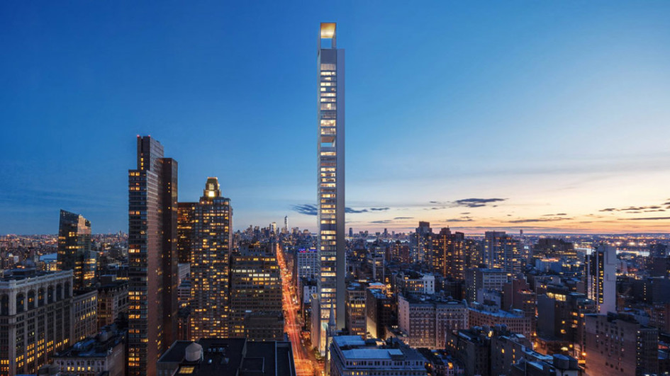 Ультратонкая башня будет первым реализованным объектом бюро «Меганом» в США