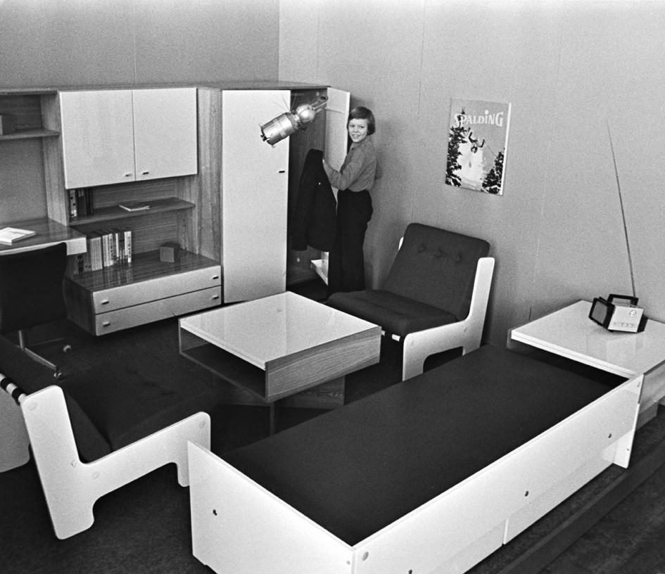 Мебель Пярнуского деревообрабатывающего комбината «Вийснурк». Эстонская ССР, 1976 год