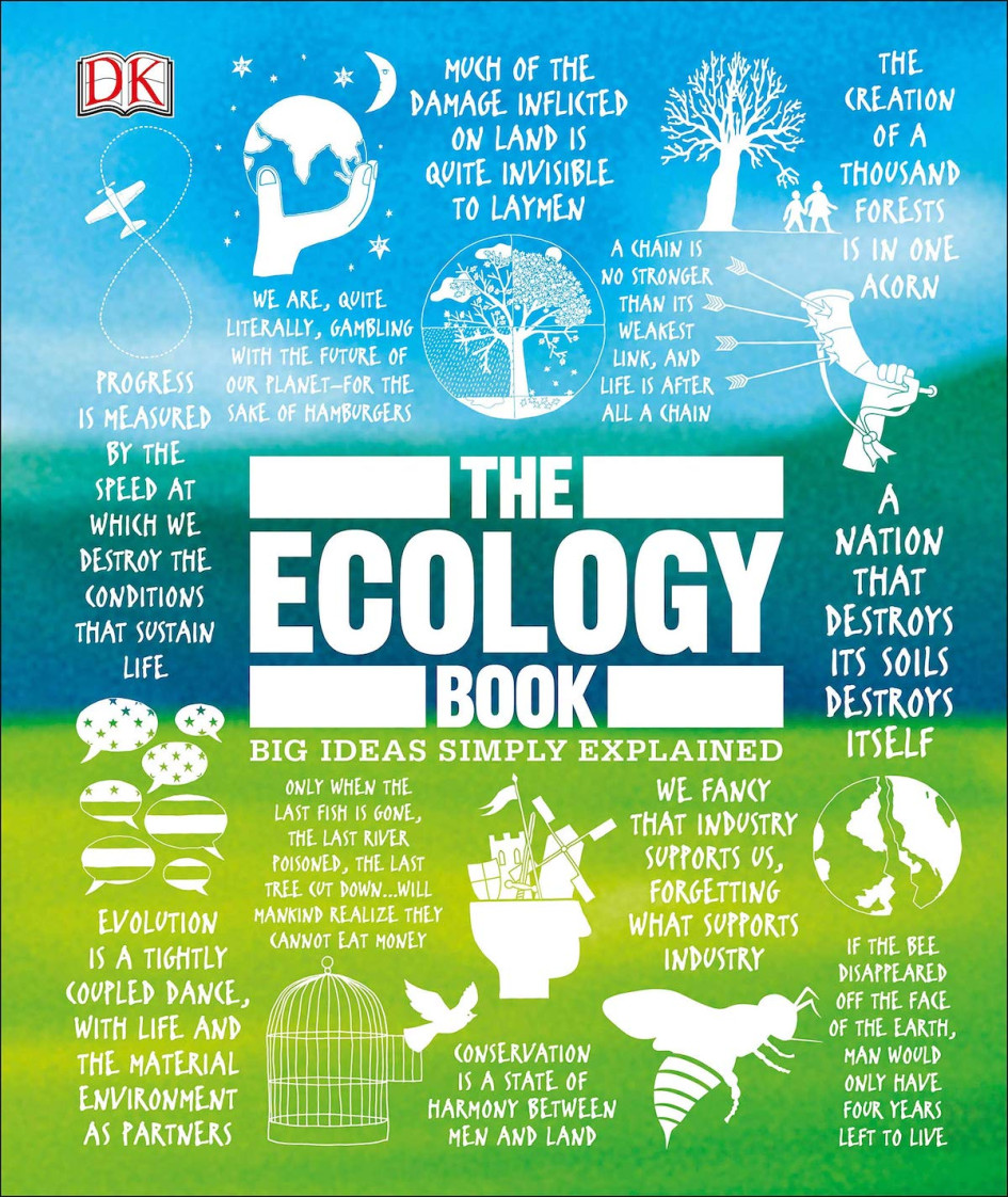 Обложка книги Tony Juniper: The Ecology Book. Big Ideas Simply Explained. Dorling Kindersley, 2019 год
