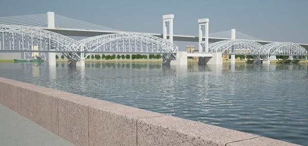 Мостовой переход через Неву