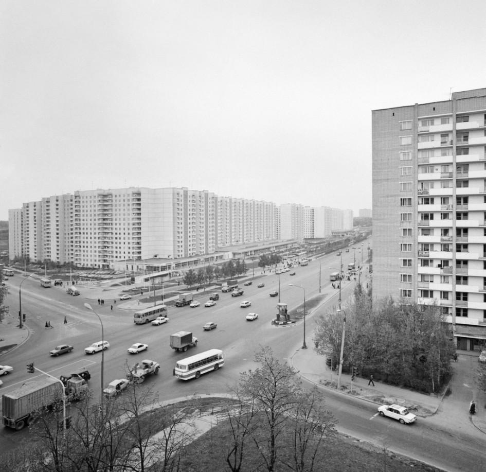 Можайское шоссе и Рябиновая улица. 1986 год
