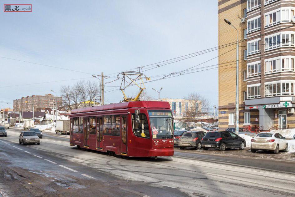Трамвайные вагоны 71-623-02.02, решение о закупке которых вместо не подошедшего 71-409 приняли в Волгограде, успешно эксплуатируются в Казани с 2017 года