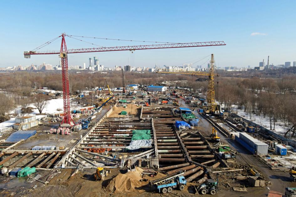 Строительство станции «Терехово» Большой кольцевой линии метро